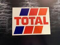 Enseigne Plaque Décorative Garage TOTAL logo année 1980 _50cm x 31 cm