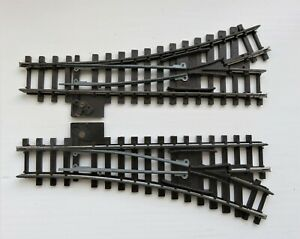 Tri-ang OO Gauge Super 4 series points, 1 x R490  L/Hand and 1 x R491, R/Hand.
