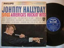 JOHNNY HALLYDAY SINGS AMERICA'S ROCKIN HITS / JAPON 60'S LAMINATED FLIP BACK COV