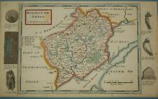 Monmouthshire by Herman Moll (c1724) Wales, Welsh County, Newport, Chepstow