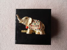 Butler & Wilson Gold Tone & Multi-Coloured Crystals Elephant - Brooch / Pin