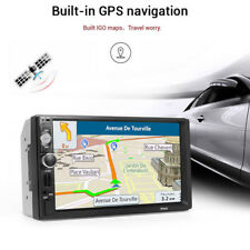 "7"" HD 2 Din Touch Screen Car GPS Navigation Bluetooth FM Radio Stereo MP5 Player"
