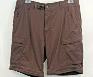 REI Co Op Shorts Women's size 34Wx30L Brown Adjustable Waist Cargo Bermuda