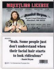 WF Wrestling License DANIEL BRYAN wwf Drivers License FAKE ID driver's card wcw