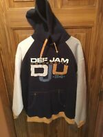 Def Jam Records University Hoodie Men's Size XXL Long Sleeve