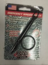 EMERGENCY RESCUE CAR AUTO GLASS KEYCHAIN WINDOW BREAKER PUNCH ESCAPE ZAK TOOL