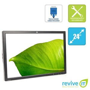 """HP ZR2440w 24"""" Widescreen 1920x1200 16:10 IPS Backlit LED Monitor ONLY - Grade A"""