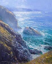 Richard Blowey Original Oil Painting - Cliffs Near Gurnard's Head Cornwall