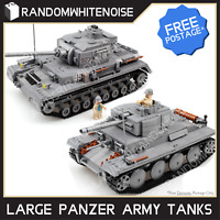 Army Tank Vehicles 1711 Panzer USA German Building Block Toy Compatible Jeep Kid