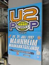 1997 German Euro Rock Concert Poster U2 Pop Mart Tour Zoo TV Maimarktgelande