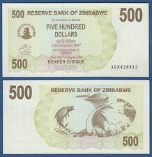 SIMBABWE / ZIMBABWE 500 Dollars 2006  UNC  P. 43