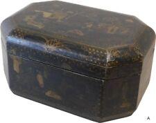 Antique Black Lacquered Box (77-325)