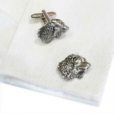 Silver Pewter Spaniel Head Handmade in England Cufflinks Spaniels Dog Pet New