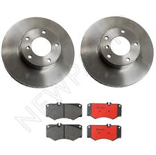 For Mercedes W463 G500 G55 AMG G550 Front Vented Brake Disc Rotors With Pad Set