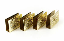 4pc Stieff Sterling Silver Gold Wash match box cases, Hand Chased & Repousse 99g