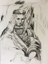 Léon MASSON (1911-1984) personnage masculin en habit Estampe signée 2ème état