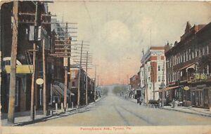 H70/ Tyrone Pennsylvania Postcard c1910 Pennsylvania Ave Stores  64