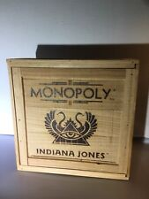 Indiana Jones Monopoly Collector's Limited Edition Wooden Crate - COMPLETE SET