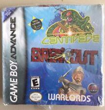 3 GAMEBOY ADVANCE GAMES  Centipede Breakout Warlords MAKE AN OFFER