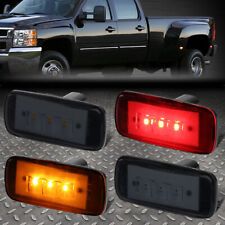 FOR 10-17 RAM TRUCK 3500 4PCS DUALLY BED SIDE FENDER LED MARKER CAB LIGHT SMOKED