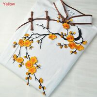 On Blossom Flower Badge Applique Embroidery Patch Sticker For Clothes/Hat/Bags