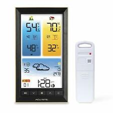 AcuRite 01201M Vertical Wireless Color Weather Station with Indoor/Outdoor Te...