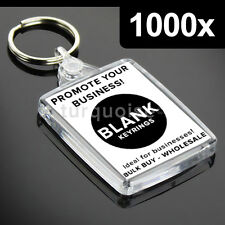 1000x Premium Clear Acrylic Blank Keyrings Key Fobs 45 x 35 mm | Passport Photo