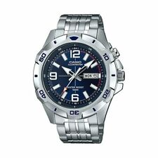 Casio Men's MTD1082D-2AV Super Illuminator Analog Stainless Steel Watch