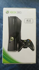 NEW Microsoft Xbox 360 S 4gb Black Console FACTORY SEALED