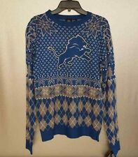 SWEATER Ugly Christmas DETROIT LIONS NEW NWT Men's S Pullover NFL Licensed