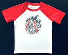 Under Armour Boys Short Sleeve White heatgear Baseball Theme Graphic Tee