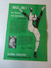 1950 Howie Odell Football Alcohol Education Poster Alcoholics Anonymous Interest