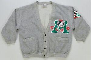 Rare Vintage J.G. HOOK Mickey & Co M Club Cardigan Sweatshirt Jacket 80s 90s S
