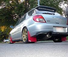 Subaru WRX, STI, XL Impreza Rally Mud Flaps, RED ROKBLOKZ  02 03 04 05 06 07