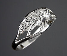 Bague LOUP - Ring with WOLF  -  Argent Massif  925/1000 - Taille 52