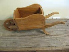 Adorable Handmade VTG Wooden Wheelbarrow ~ Doll Prop ~ Planter +