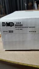 DMP 635 R Fire Red surface mount back box 1 3/4