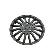 """Lightning Black 14"""" Wheel Cover Hub Caps Set Ideal For Volkswagen Golf"""