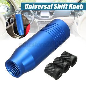 Universal Aluminum Manual Car Auto Gear Stick Shift Knob Shifter Lever Blue  +