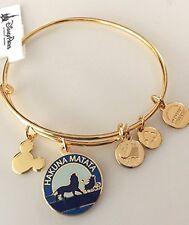 Disney Parks Alex and Ani Lion King Hakuna Matata GOLD Charm Bangle Bracelet