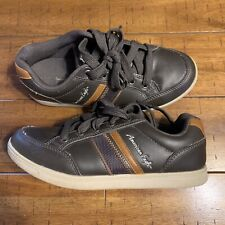 American Eagle Youth Boys Brown Tennis Shoes Sneakers Us Size 4 Eur 36
