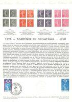 1e jour Timbre sur document philatélique - Académie de philatélie