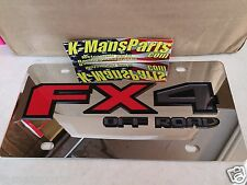 Ford FX4 Off Road 2015 up stainless steel chrome mirror vanity license plate tag