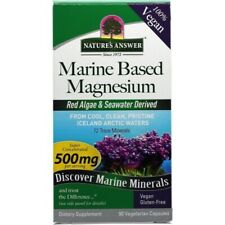 Nature's Answer Marine based Magnesium 500mg Herbal Extract 90 Capsules 72 Trace