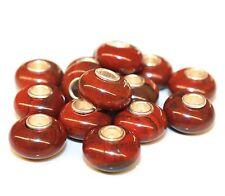 Roter Jaspis Red Jasper 925 Sterling Silber Bead Beads Donut Edelsteine Charme