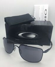 New OAKLEY Sunglasses GAUGE 8 L OO4124-0162 62-17 136 Matte Black Aviator w/Grey