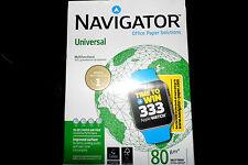 1 Karton  Kopierpapier Premium Navigator 2.500 Blatt A4 ca. 80g/qm weiß