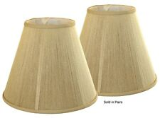 """Beige Silk String Soft Back 6"""" x 12"""" x 9"""" Shade - Price is for a Pair"""