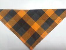 Dog Bandana, Over The Collar, Size S,M,L,Xl, Checkered Halloween!