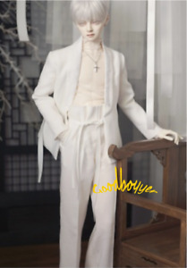 1/6 1/4 1/3 UncleSSDF ID72 BJD Clothes White Outfit Blazer+Bottom T-shirt+Pants